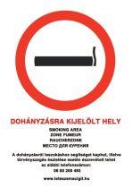 Dohányzásra kijelölt hely
