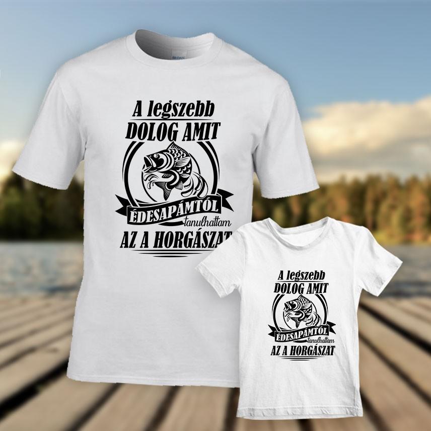 Apa-fia horgász póló szett - Kovicomputer 0c553ffcda