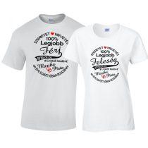 Házassági évforduló páros póló szett