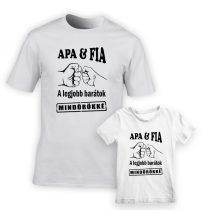 Apa és fia a legjobb barátok póló szett