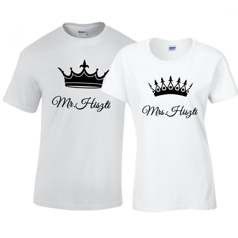 Mr. és Mrs. Hiszti páros póló - Kovicomputer eb23faf057