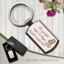 Feliratos kulcstartó -A szeretet anya és lánya között örökké tart