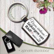 Feliratos kulcstartó -Vezess óvatosan! Kamionosoknak