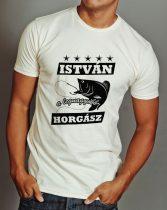 István a legnagyobb horgász póló