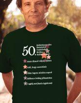 50. születésnapodra szeretettel póló