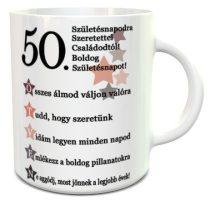 50. Születésnapodra szeretettel bögre