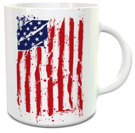 Amerikai zászlós bögre