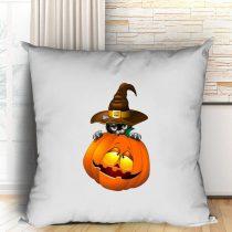 Halloween Pumpkin and Cat párna