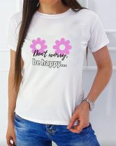 Dont worry be happy... NŐI póló