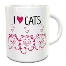 I Love Cats bögre