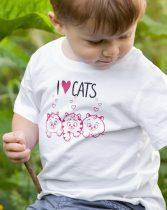 I Love Cats gyerek póló