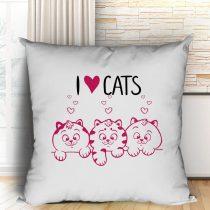 I love cats párna