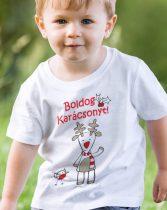 Gyerek póló Boldog Karácsonyt