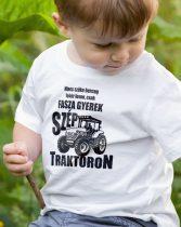 Traktoros gyerek póló -Nincs szőke herceg fehér lovon