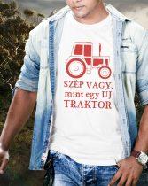 Vicces póló traktorosoknak -Szép vagy mint egy új traktor