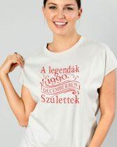 Női póló születésnapra -A legendák