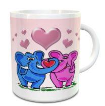 Szerelmes elefántok bögre