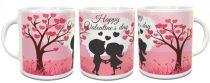 Valentin napi bögre rózsaszín