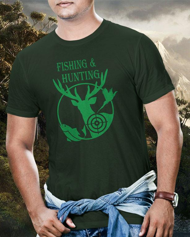 ff1ba1c60b Horgász és vadász póló -Fishing and Hunting - Fényképes, feliratos ...