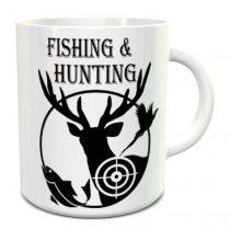Horgász és vadász bögre -Fishing and Hunting