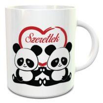 Pandák szeretlek felirattal bögre