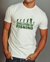 Horgász evolució póló