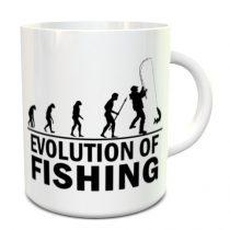 Horgász evolució bögre