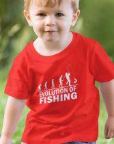 Horgász evolució gyerek póló