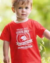 Minden férfi egyenlőnek születik -horgász gyerek póló