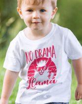 Llama gyerek póló -No drama