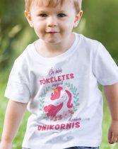 Unikornis gyerek póló -Nem tökéletes vagyok, hanem unikornis