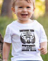 Póló motorosoknak - Motoros szív motoros lélek gyerek póló
