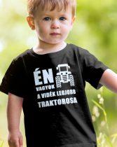 Gyerek póló traktorosoknak -Én vagyok a vidék legjobb traktorosa