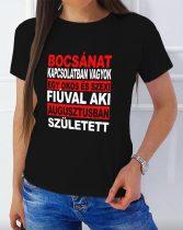 Szülinapi női póló - Bocsánat, kapcsolatban vagyok...