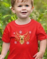 Póló karácsonyra rénszarvas mintával gyerek póló