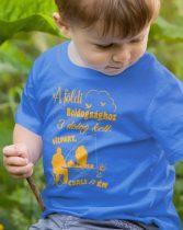 Gyerek póló horgászoknak - A föld boldogsághoz 3 dolog kell...