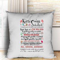 Karácsonyi szabályok párna