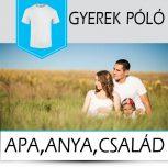Apa, anya, család gyerek pólók
