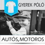 Autós gyerek pólók