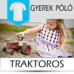 Traktoros, egyéb gépes gyerek pólók
