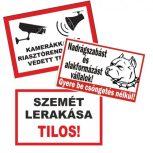 Figyelmeztető és tiltó táblák